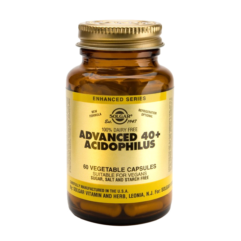 Advanced 40+ Acidophilus Veg. Caps 60s Ενισχύει το πεπτικό σύστημα, Acidophilus 60s Zarachispharmacy Overespa