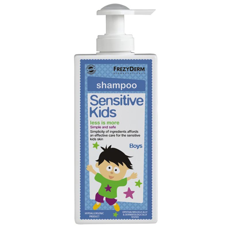 Kids Shampoo Boy Σαμπουάν Sensitive για αγόρια 200ml Zarachispharmacy Overespa