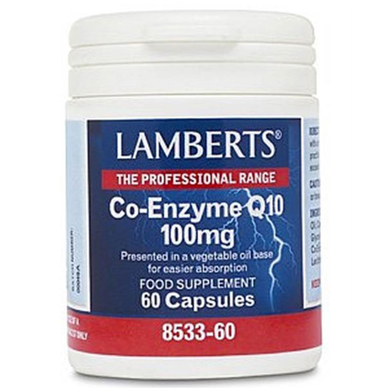 Lamberts Co-enzyme Q10 100mg 60caps Συμπληρώματα Zarachispharmacy Overespa