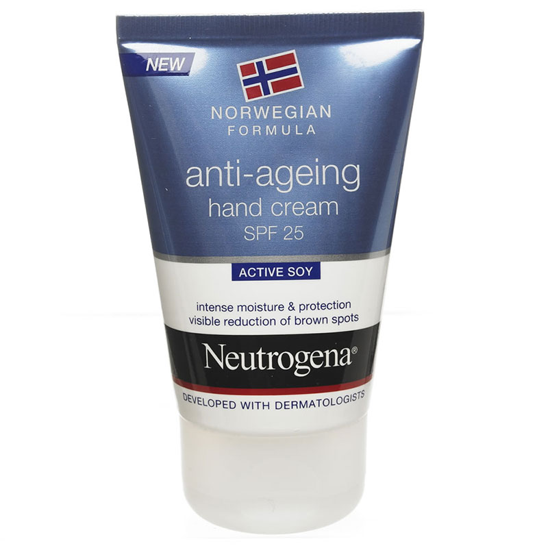 NEUTROGENA Anti-ageing Hand Cream Αντιγηραντική κρέμα χεριών 25 spf 50ml Zarachispharmacy Overespa