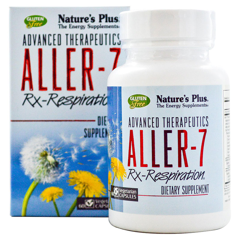Nature`s plus aller-7 rx-respiration vcaps 60 -zarachispharmacy overespa