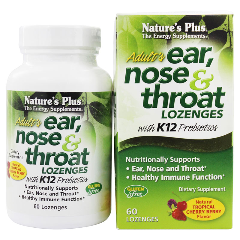 Nature`s plus ear nose & throat lozenges 60 -zarachispharmacy overespa
