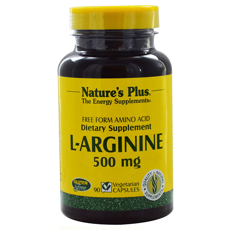 Nature`s plus l-arginine 500 mg vcaps 90 -zarachispharmacy overespa