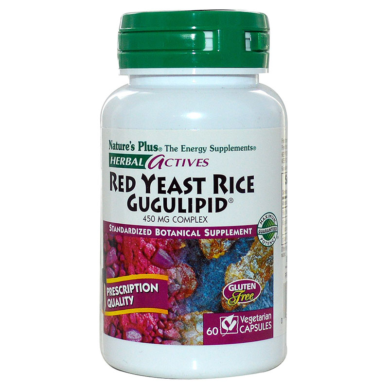 Nature`s plus red yeast rice gugulipid vcaps 60 -zarachispharmacy overespa