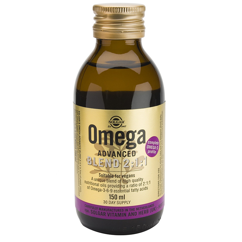 solgar Omega Advanced liquid Συμπληρώματα, Blend 2/1/1 Liquid Zarachispharmacy - Overespa