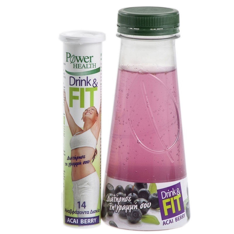 Power Health Drink Fit 14s Φυσικό συμπλήρωμα με φρούτα Acai Berry - Zarachispharmacy Overespa