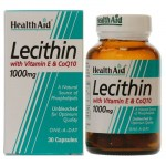 Health aid lecithin with coq10 1000mg and vit e 30 caps Αποτοξινωτικές κάψουλες με συνένζυμο Q10- zarachispharmacy overespa