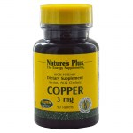 Nature`s plus copper 3 mg tablets 90 -zarachispharmacy overespa