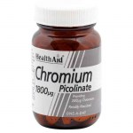 Health aid Chromium Picolinate Ειδικά συμπληρώματα, 1800mg 60tbs Zarachispharmacy Overespa