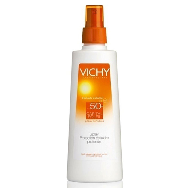 vichy Capital soleil Spray Αντιηλιακό σώματος, spf 50+, 200ml Zarachispharmacy Overespa